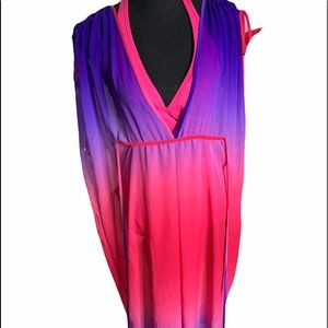 Beautiful gossamer moo moo cover up fuscia pink and purple size small ombré